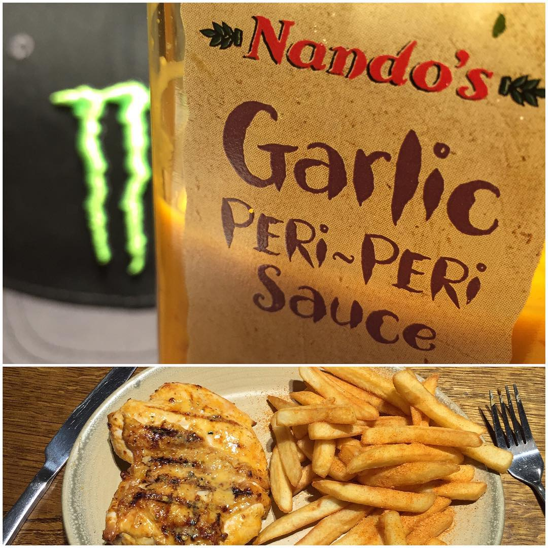 When you travel as much as I do around the world, and you find a spot in a foreign country that you really like, you may end up eating there way too much. That's how I feel about this spot. It's a fast-casual restaurant in the UK: Nando's. Good...