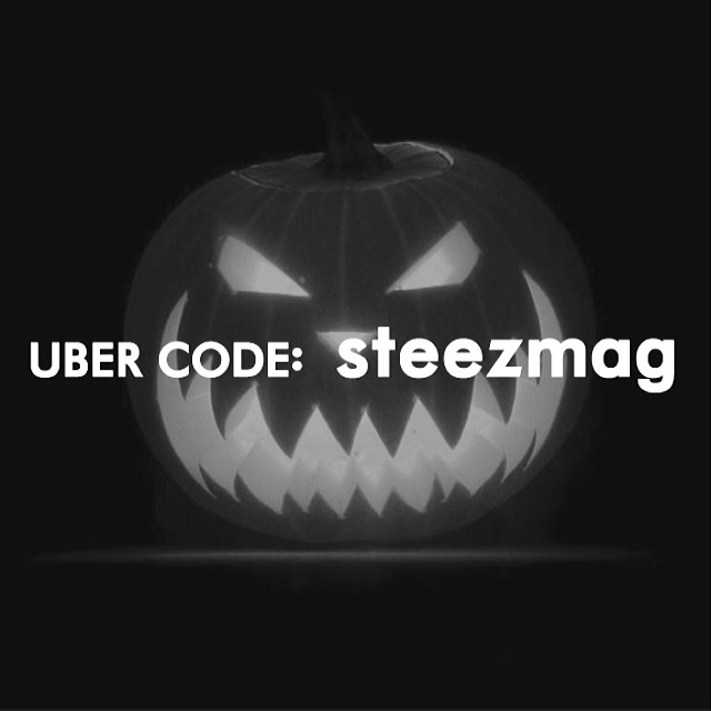 "First timers use @uber code ""steezmag"" for $30 off your first ride this Halloween or anytime. #ubercode #uber #halloween #designateddrivers #freeride #steez #steezmagazine"