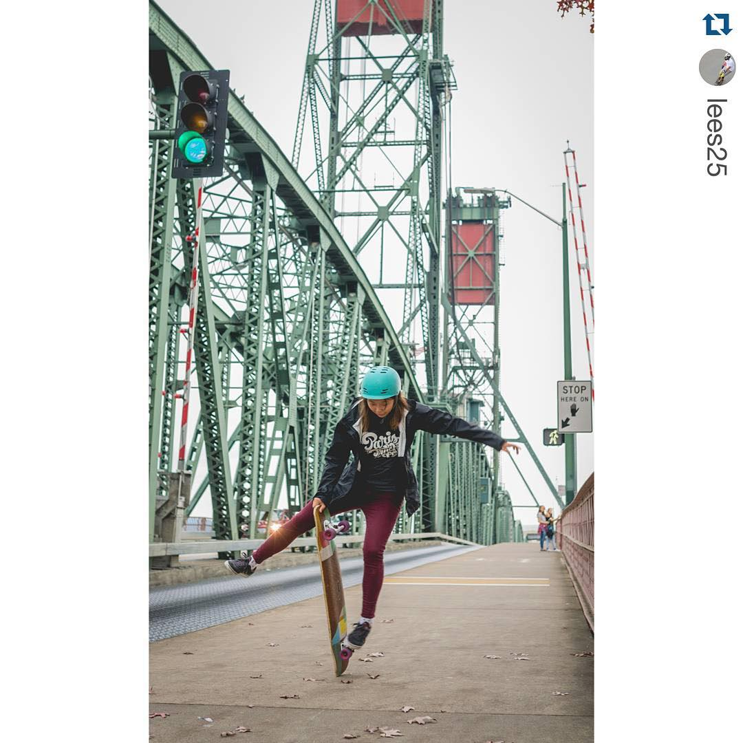 A girl and her board. @iamcindyzhou meanders through #Portland. Photo: @lees25 #xshelmets #skate #skateboarding #pdx