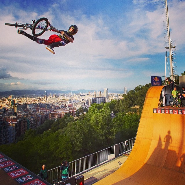 Soaring above the city! #xgames #sendit