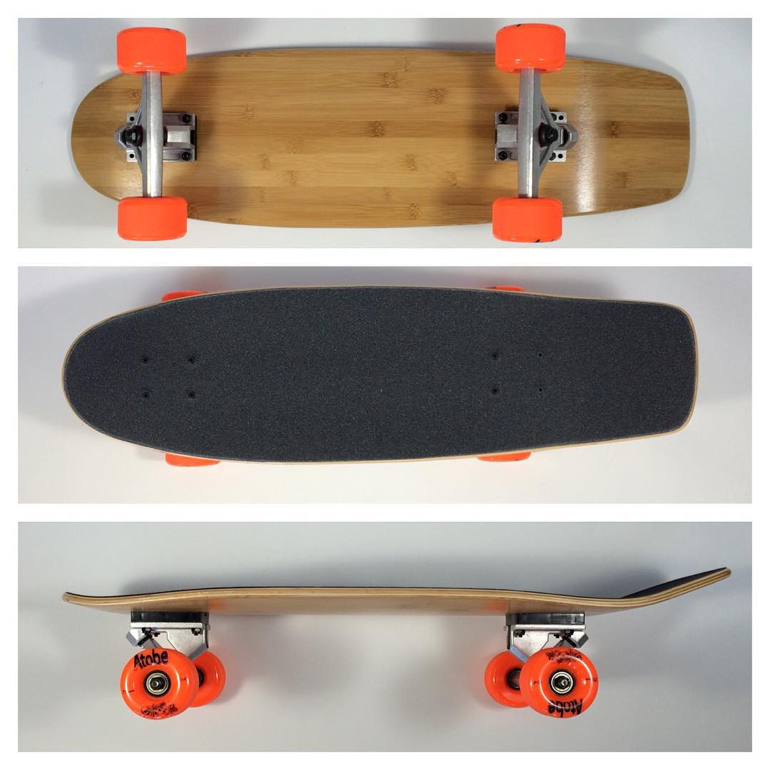 #bamboo square tail #cruiser with upgraded #rkp #trucks and #atobe 70mm wheels. #skatelife #skateboarding #skateshops #alternative #concrete #wave #california