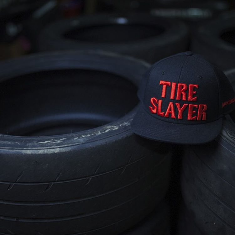 Sometimes @chrisforsberg64 just leaves the perfect props at the #donutgarage for the Tire Slayer snap back. Available now on #hooniganDOTcom.