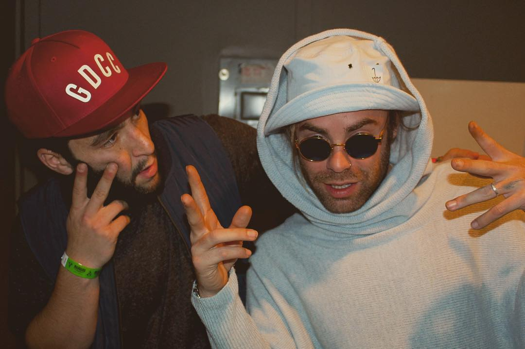 Love to @modsun for having me out to party. Doesn't he look swell in his new bucket hat?