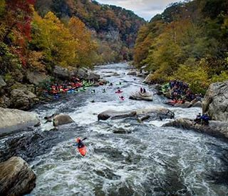 #LordoftheFork from last weekend's Russell Fork Race!  Great shot from @garethtate #cuzrockshurt