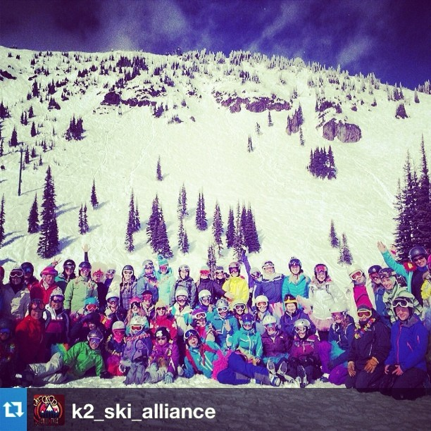 #Repost from @k2_ski_alliance. Getting the Girls Out at #CrystalMountain today. #ladyshred #jumpout #GTGO