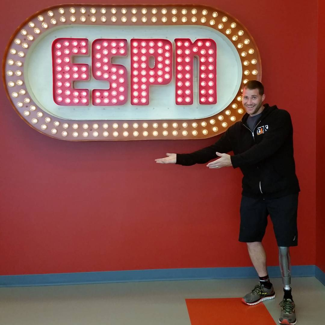 Six-time #XGames gold medalist @monstermike5 has arrived at @ESPN headquarters in Bristol, CT!