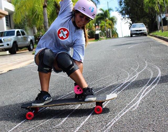LGC Puerto Rican ambassador @keydennise playing with her thane. Buena Key! @joshuanel photo.  #longboardgirlscrew #womensupportingwomen #skatelikeagirl #puertorico #lgcpuertorico #keyladennise