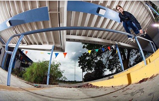 Good morning. @nick_garcia, boardslide shot by @samuelmcguire. #nickgarcia