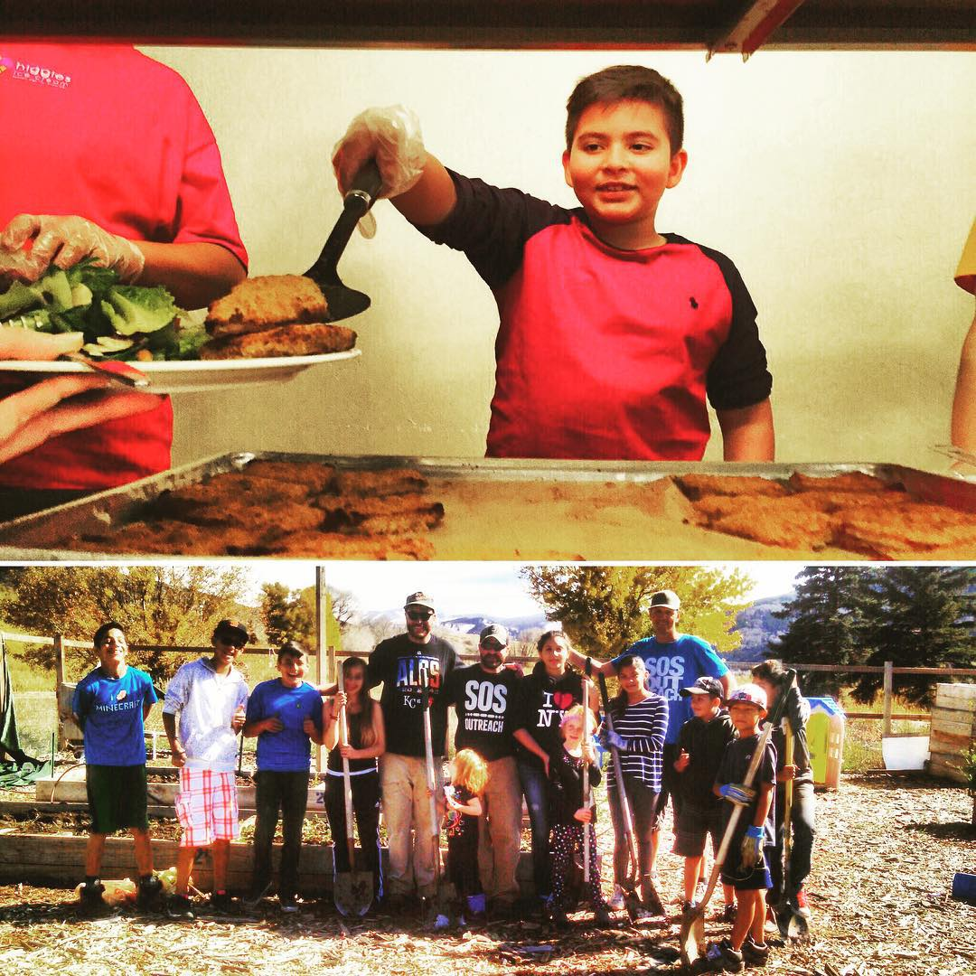 SOS youth get their #service on this week in Colorado. Community dinners, bike path cleanups and community garden maintenance - #communityfirst