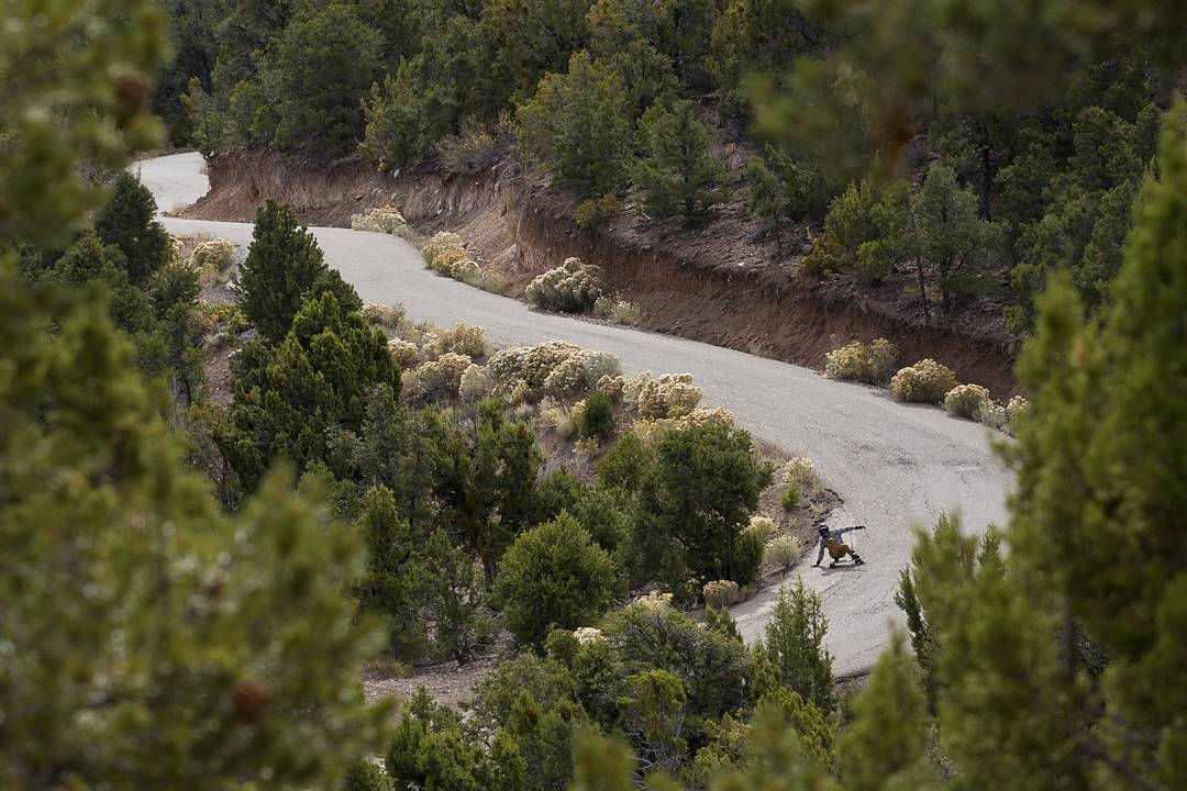 Ripping through the guts of Utah like a Chipotle Burrito, #OrangatangAmbassador @rileywirvine gets in it to win it.  Photo: @avant_gnar  #Orangatang #Orangatangwheels #kegels