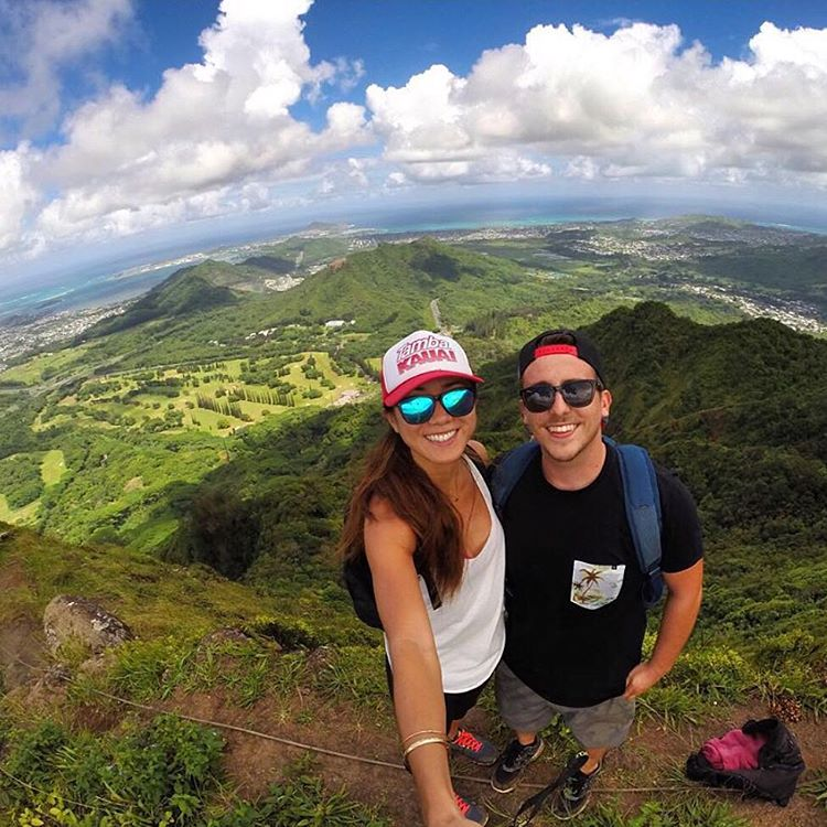 Always green over the horizon  @jishigamii (left) sporting the Surf shades and @dakoda_seaback (right) reppin the SoCal frames  #Kameleonz #Hawaii #Hiking