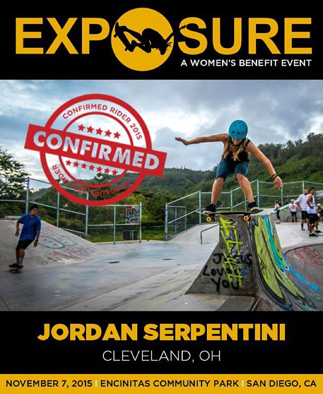 Jordan Serpentini (@jaytayserp) confirmed for EXPOSURE 2015!