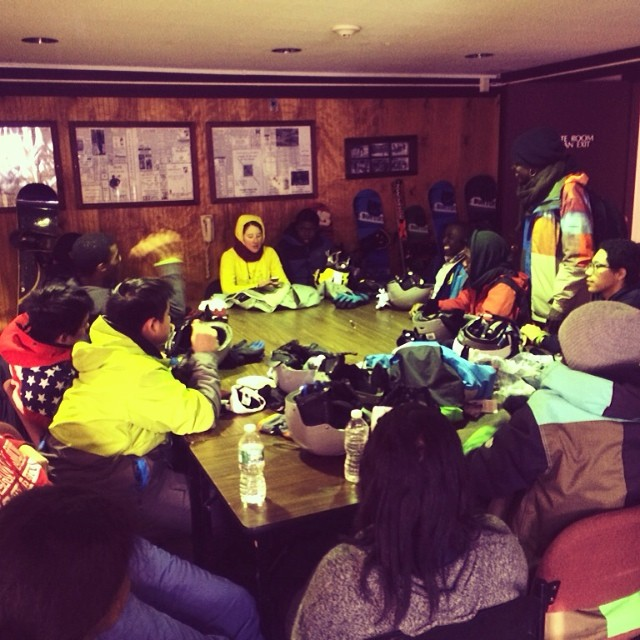 A first for #STOKEDorg - our first overnight snowboard trip and it's to Lake Placid. A new part of our Program for our Year 3s. This wknd they will plan their future, work on college essays and get motivation from mentors. Here's the group debriefing...