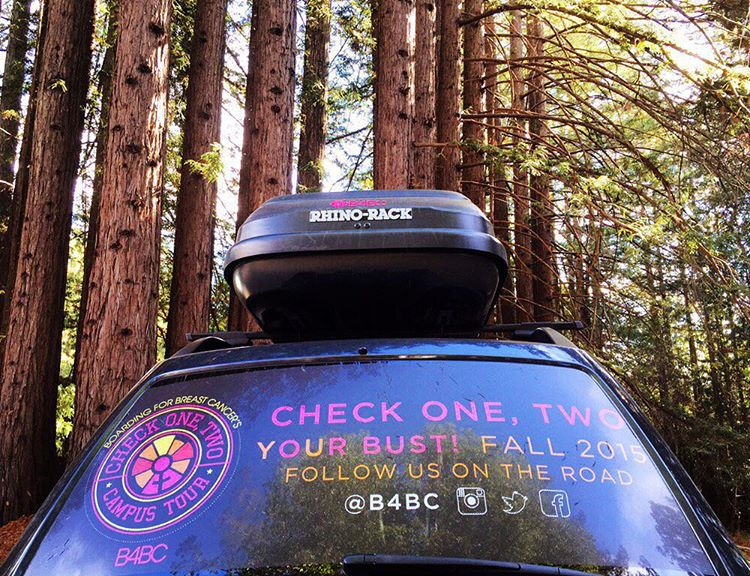Epic times in Santa Cruz! Our traveling education booth landed at @ucsc for a day of outreach on the B4BC Check One, Two Campus Tour! See where we'll be next and learn how to #checkonetwo for breast cancer at b4bc.org - The 2015 #B4BCCampusTour is made...