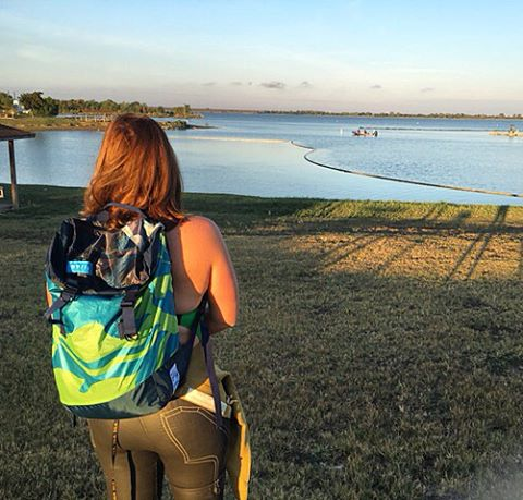 Sally from #PlayTri's swim group training hard at #LakeLewisville in Texas for her Ironman // MAFIA bags are built to withstand & support all types of active lifestyles and we love seeing them in action