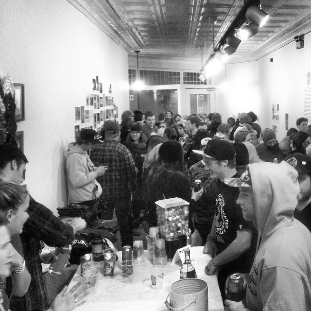 Huge turnout at the 30th Art Show tonight. Thanks to everyone for the support. #steezmagazine #issue30 #artshow @mingogallery