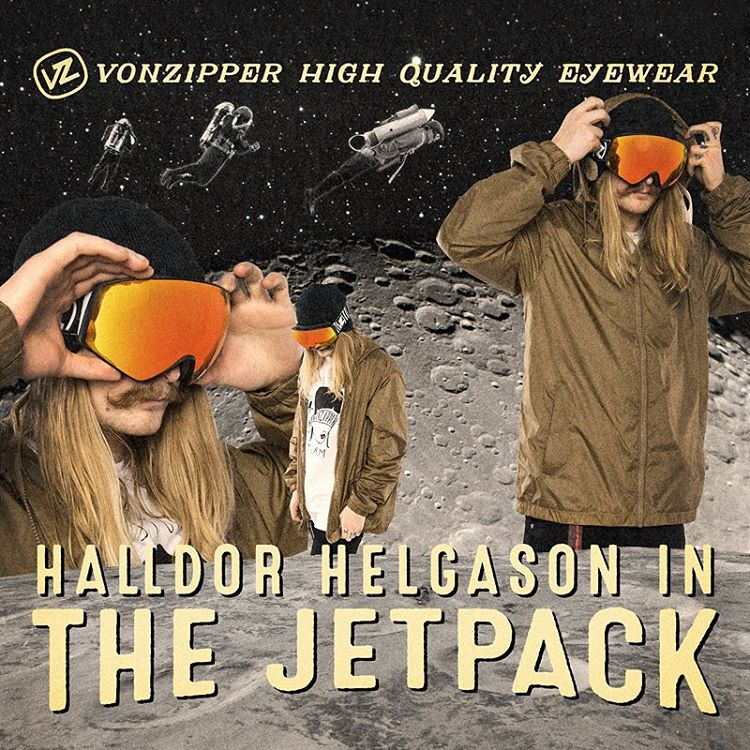 Now entering the atmosphere of a shop near you, @hhelgason and his #Jetpack! #ElNiños #VonZipper #SupportWildLife