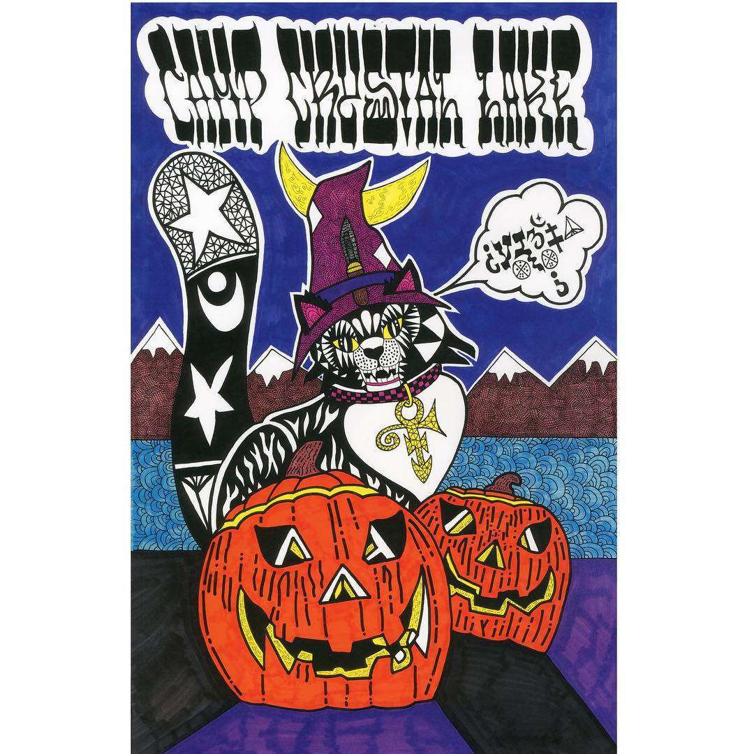 #elementadvocate Mike Kershnar created a festive Halloween art and caption contest.  Give @huskyroundup a follow and see how you can win an art deck and some spooky goodies.