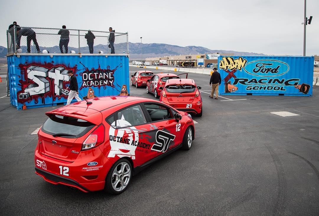 Today was the first time I was able to check out the Ford's Octane Academy course setup at @MillerMotorsportsPark, while a group of @MonsterEnergy contest winners were driving on it today. Launches, slaloms, handbrake turn sections, and more - all...