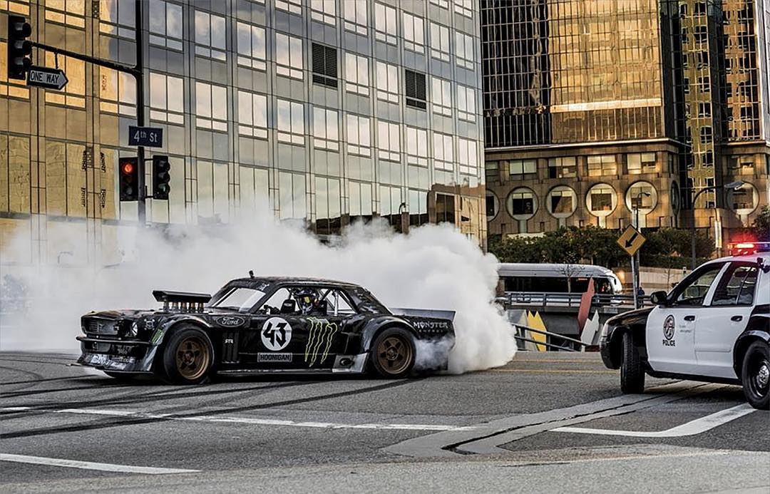 #TBT – A year ago, five-time #XGames medalist @KBlock43 tore through the streets of LA in 'Gymkhana 7.' His Hoonicorn Mustang will be featured in the new '@NeedforSpeed' video game! (