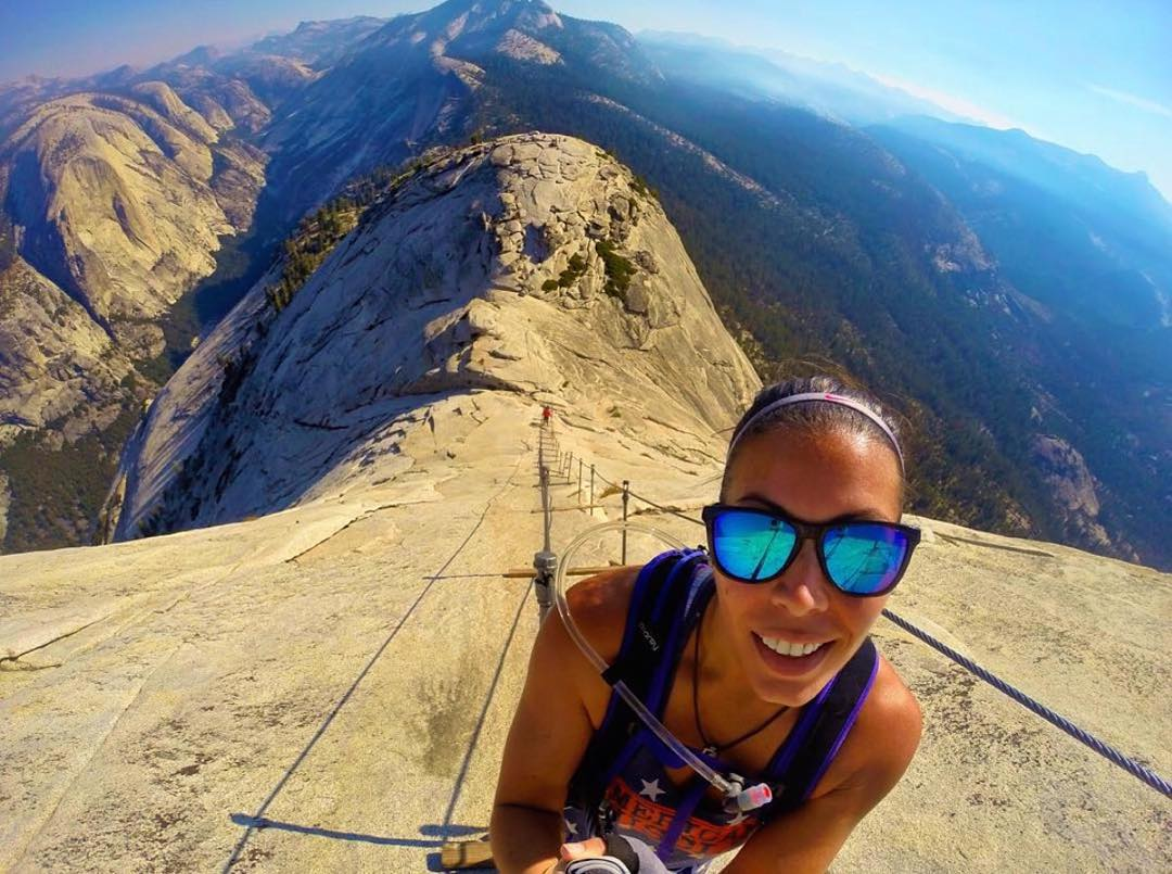 Set your sights higher  @jessica_bolton sporting the Surf shades and capturing the breathtaking view of Half Dome  #Kameleonz #Climbing #HalfDome