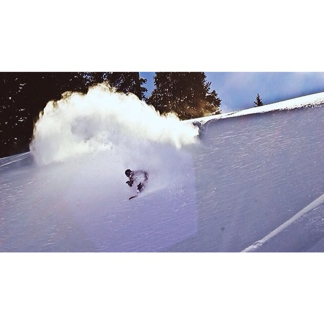 Stoked I see @greydinsgram enjoying some pow in Jackson