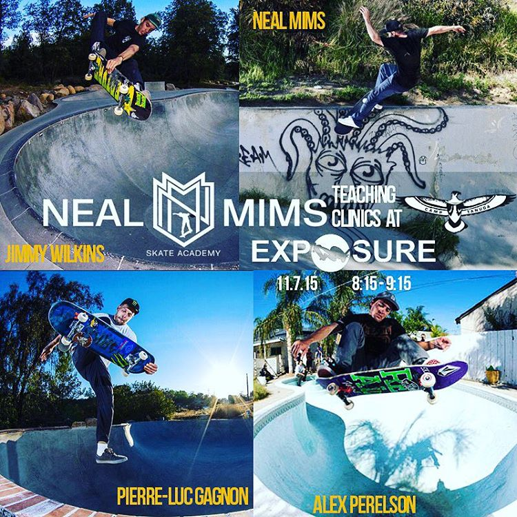 @nealmims is bringing an amazing team to teach the free @camptanuga Learn-To-Skate clinic at #exposure2015 from 8:15-9:15. Register on our website to get a lesson from the likes of @plg , @jimmy_wilkins , @alexperelson and many others! Thank you all...
