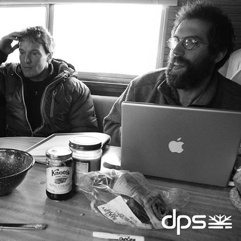 Camper pow wow with Mark Smith and Drake. Great White, 2005. Photo: @oskar_enander. #dpsroots #PowderRoad