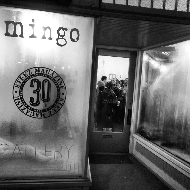 Couldn't ask for a better night than last nights 30th art show at @mingogallery thank you all!! #steamedwindows #steezmagazine #issue30 #artshow #beverlyma @gansettbeer @bernunlimited @explosiveind @inicooperative @vitacoco @titosvodka @686...