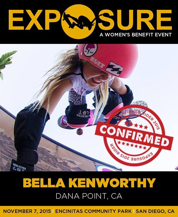 Bella Kenworthy (@bellatreas_kenworthy) is confirmed for Exposure 2015!