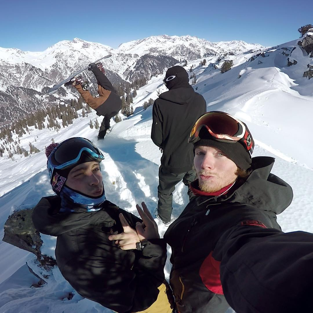 Snowboarding is more fun with friends!  @ the dudes you'll be on the mountain with this winter. (