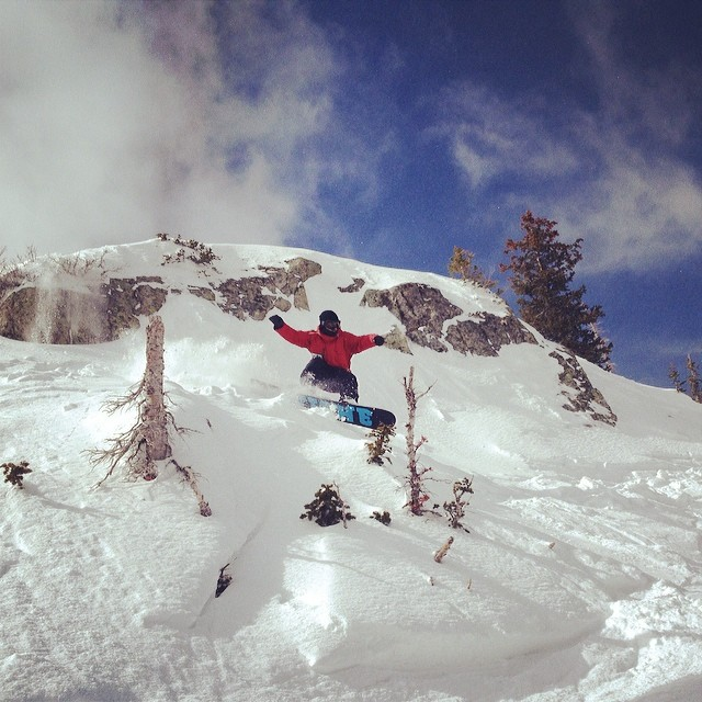 @trobertson234 enjoying some of that new snow we've been getting here at @brightonresort.