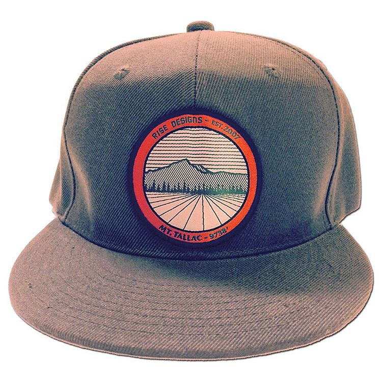 Mt. Tallac is one of the most scenic views in Lake Tahoe. This hat showcases it's beauty on a Moss Green SnapBack hat with a custom made patch. #risedesigns #riseshop