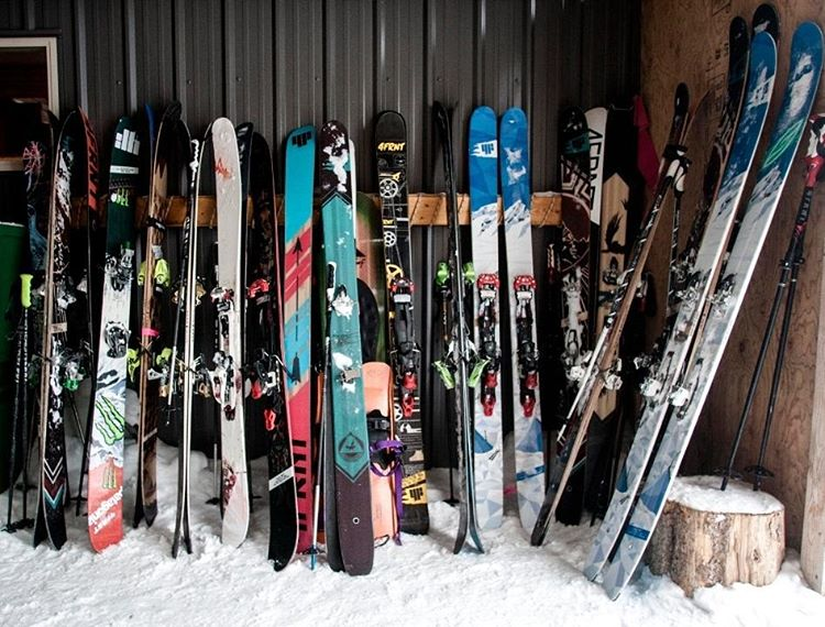 The stash. #shapingskiing #YLE #renegade #hoji #kye120 #devastator | Photo: D. Reddick