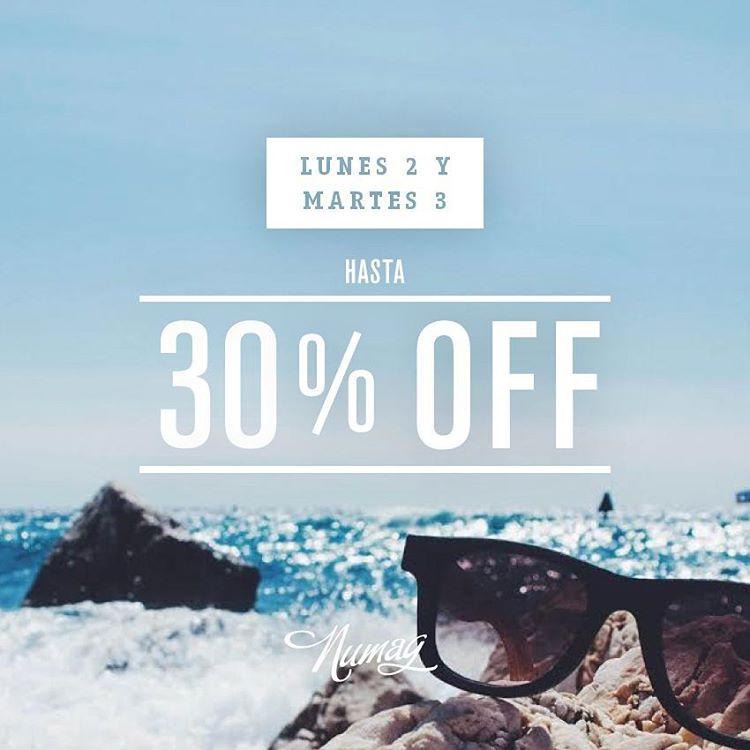 Se vienen los mejores descuentos de la temporada en Numag!  Lunes 2 y Martes 3 de Noviembre hasta 30% off para compras online.  3 days only! Shop now