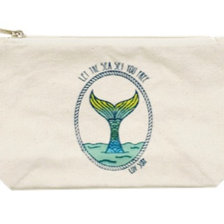 Happiness is a mermaid cosmetic bag #luvsurf #wearthecalidream #shop #accessories www.luvsurfapparel.com
