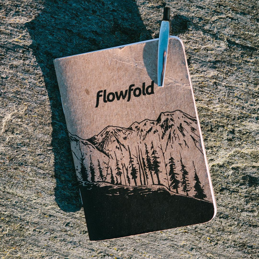 #Flowfold Scout notebooks are now available in the shop for $5 with free domestic shipping. Made in USA and printed on recycled paper. Find them using the link in our profile!