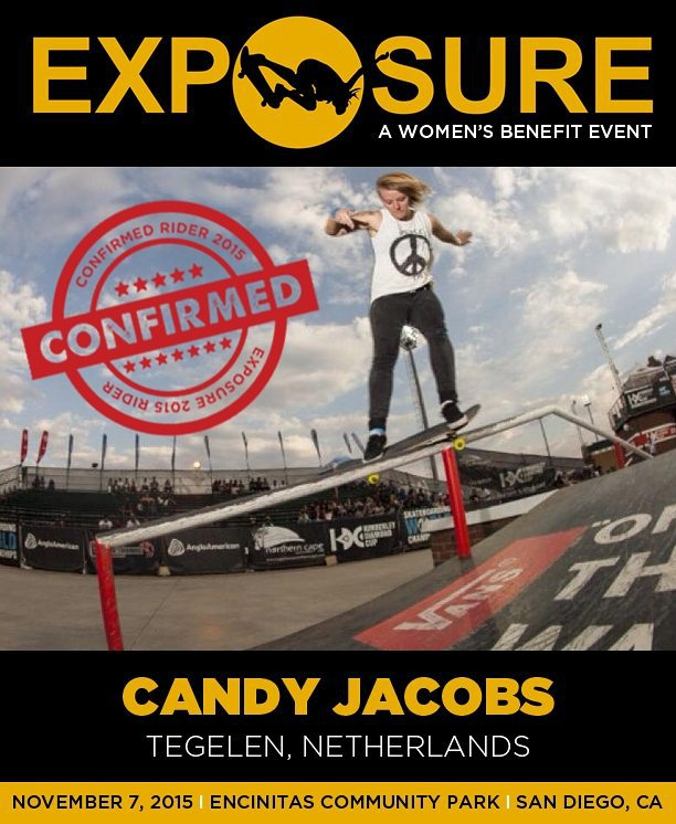 Candy Jacobs (@candy_jacobs) is confirmed for Exposure 2015! Photo from @theboardr
