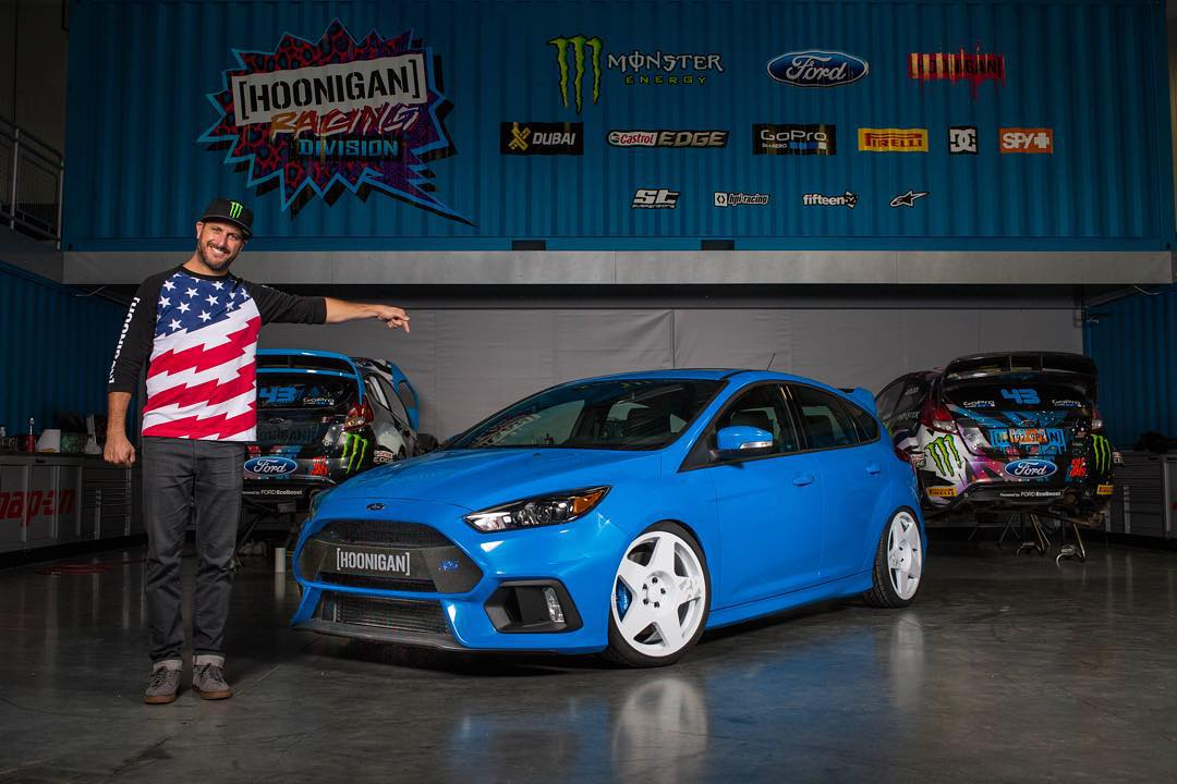 "@FordPerformance and I are raffling off a new ""Ken Block"" customized Focus RS for charity. This also happens to be the only modified 2016 Ford Focus RS in the world right now! Awesome. Very stoked to be doing this with Ford for a good cause: the..."