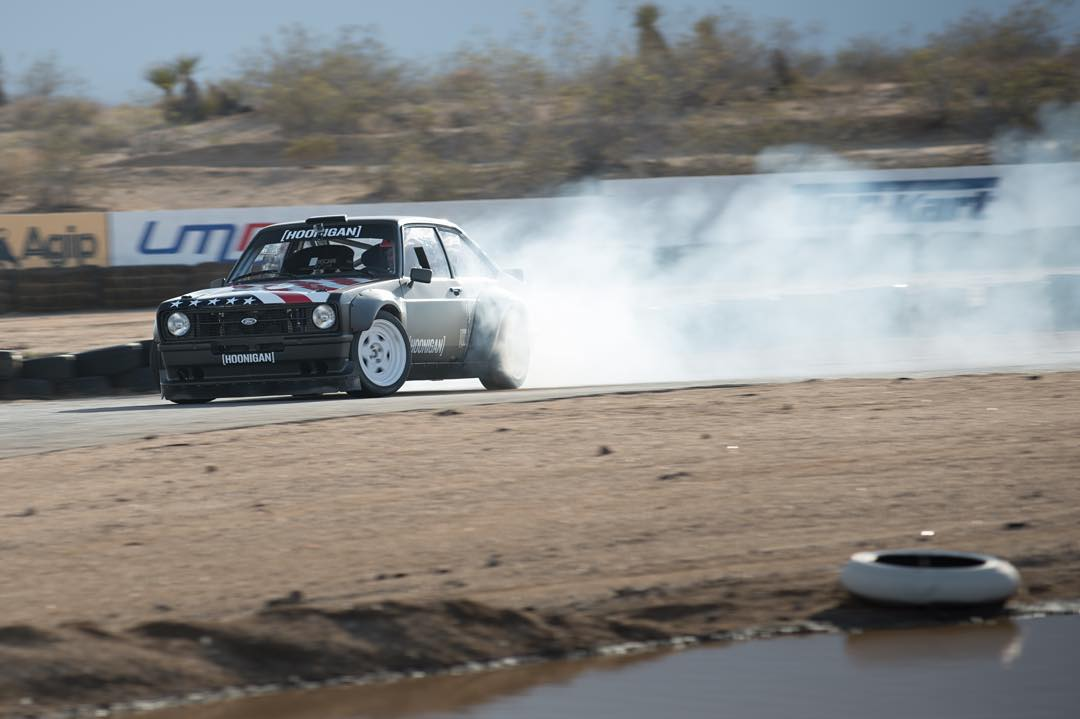 Flashback Friday to when @ryantuerck showed that 9000RPM limiter who's boss in the #GymkhanaEscort.