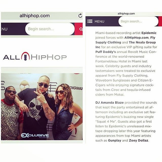 Thanks to @allhiphopcom and @itsnealag  for the #waveborn shout out from @iamdiddy @revoltmusicconference #RMC2015 #findthesun #givesight #diddy