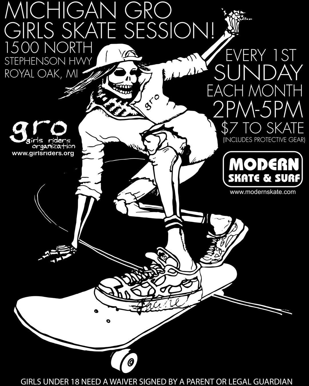 Sesh tomorrow @modernskate with @michigangrocrew