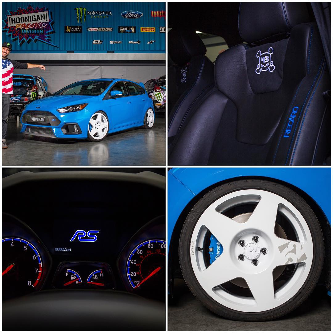 "Details of the custom ""Ken Block edition"" 2016 Ford Focus RS that @FordPerformance and I teamed to raffle off for the Juvenile Diabetes Research Foundation. This happens to be the first modified Ford Focus RS in the world right now, and now you have..."