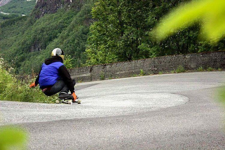 @niko_dh hitting the best spot in Norway back in June.  Photo by Sam Davignon