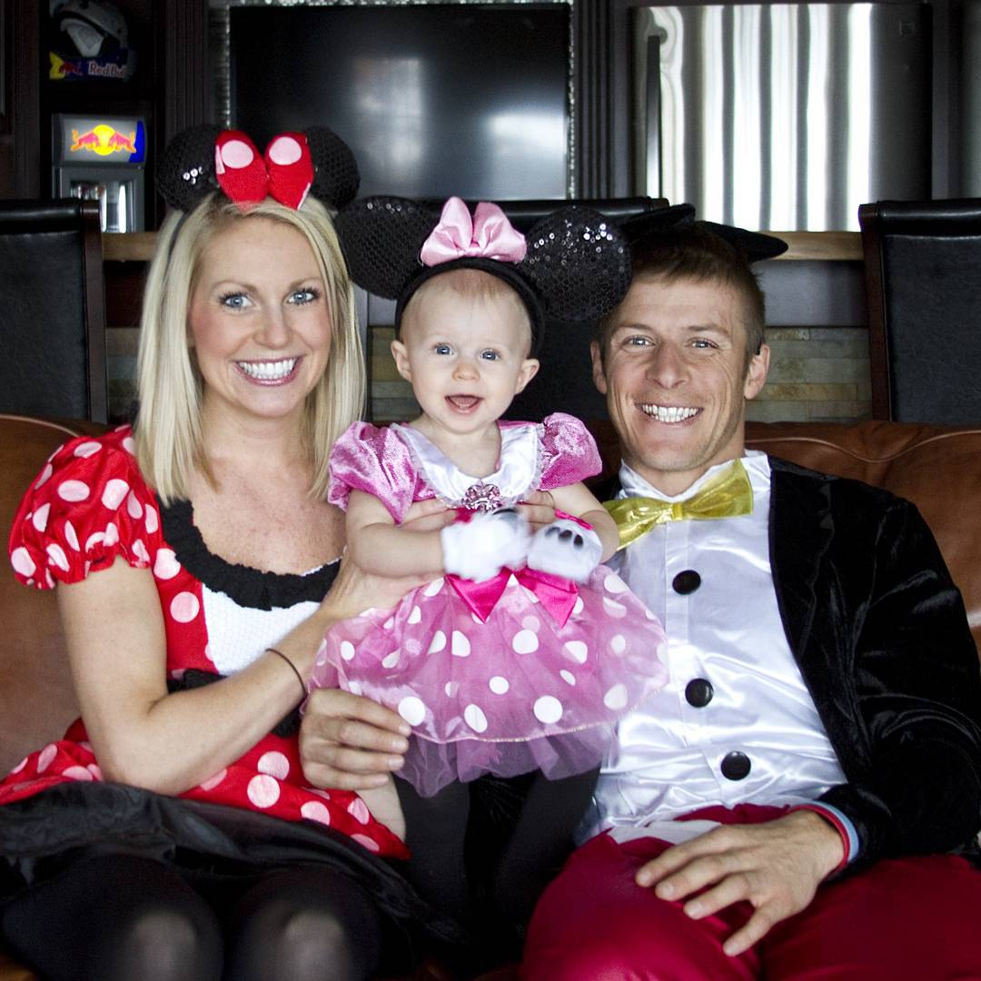 @Kristen_LaVallee, @Liv_LaVallee and seven-time #XGames gold medalist @Levi_LaVallee dressed up as the Mickey Mouse family for Halloween!