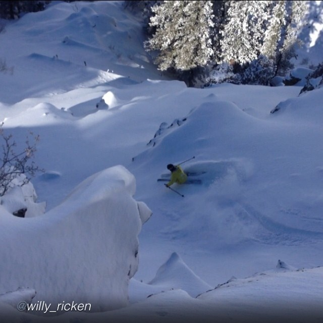 This might not be how you would picture the skiing in Southeast Idaho, but TanSnowMan knows that there are many gems to be found at his home mountain of Pebble Creek. Willy Ricken captures him shreddin' one of his favorites last Friday.  @tansnowman...