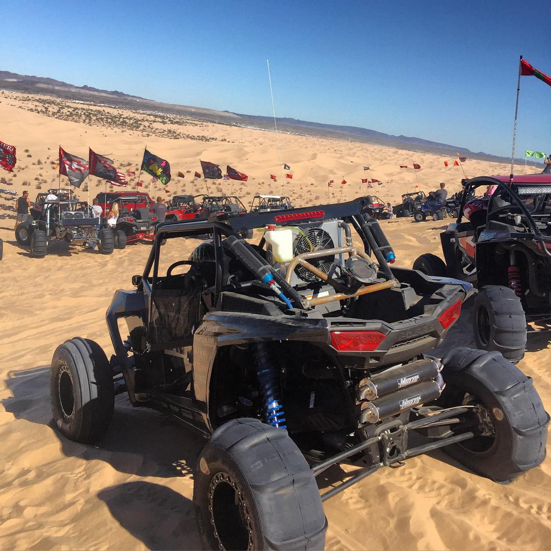 Ripping the RZR around Glamis on Halloween weekend, this place is so crazy!!!