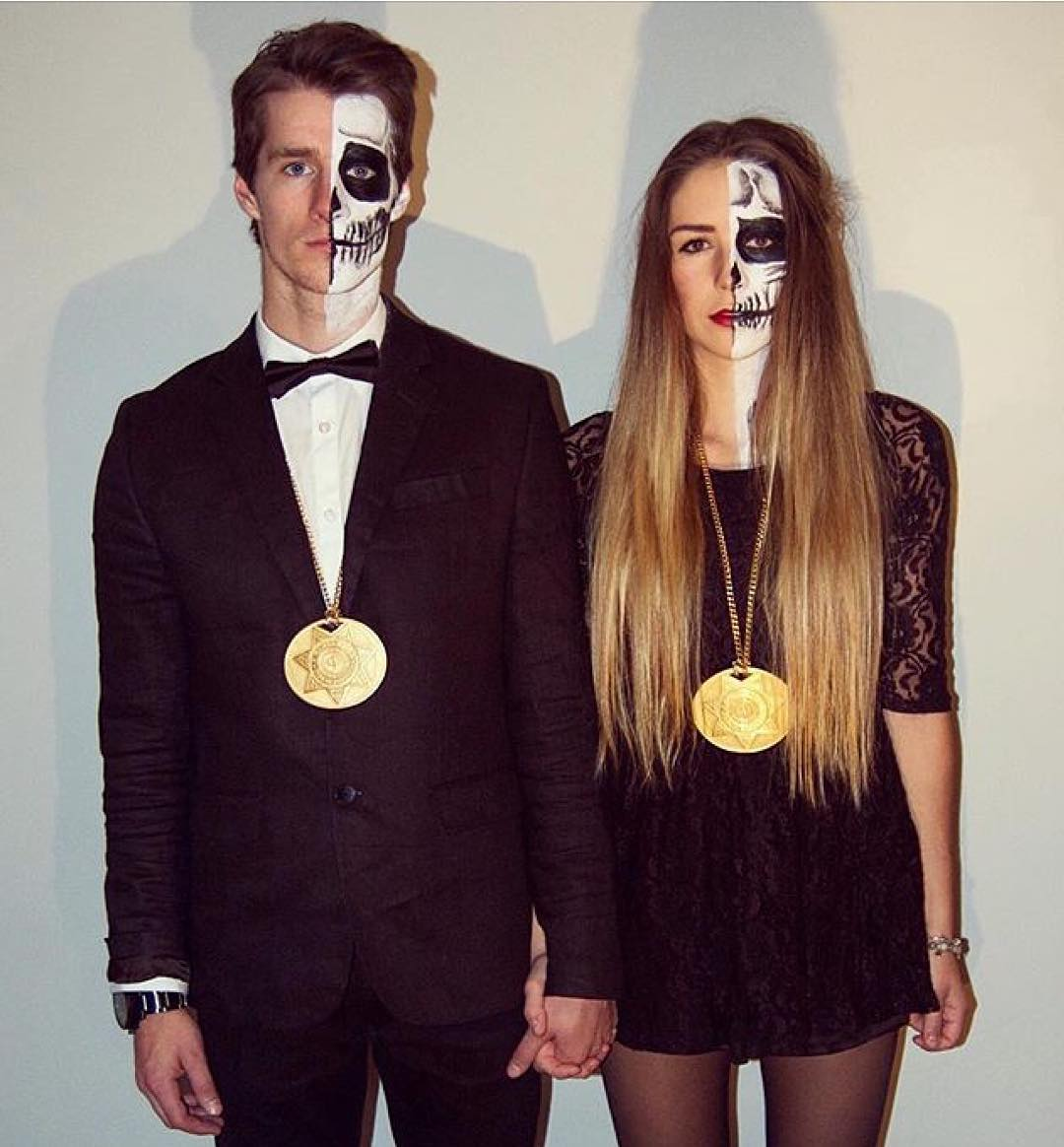 Two-time #XGames gold medalist @MaxParrot and @AlyssonXO dressed up as Day of the Dead figures for Halloween!