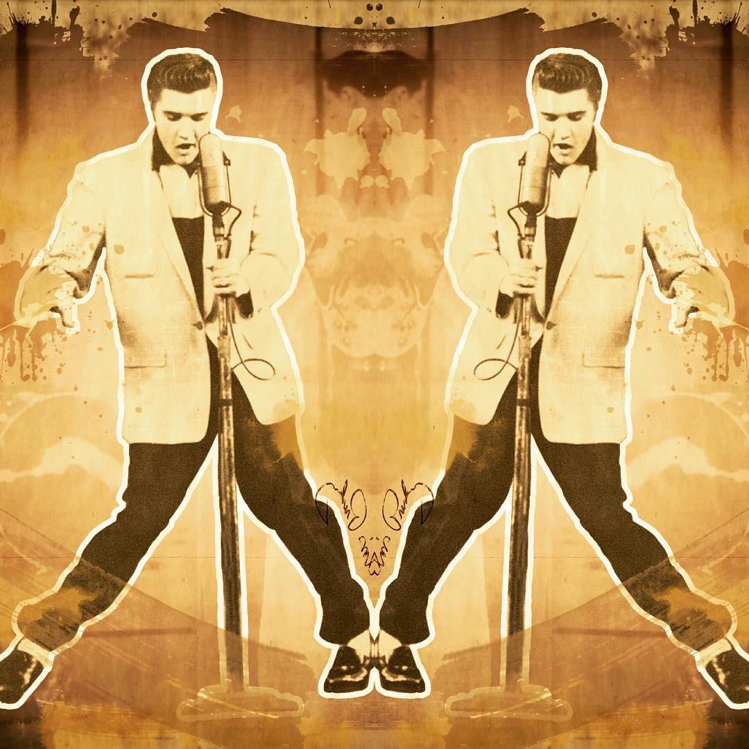 Elvis by Chilimango.  #elvis #elvispresley #rock #art #arte #chilimango #cuadros #vintage #retro
