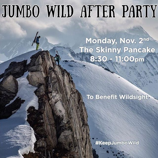 "#BTV friends! Join us tomorrow for the last stop of @patagonia's ""Jumbo Wild"" film tour at the @skinnypancake from 8:30-11:00pm.  Enjoy music and brews as @patagoniabtv wraps up the tour in style. As part of @skinnypancake's 1% for the Planet..."